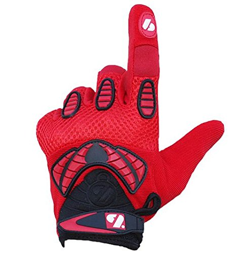 BARNETT FRG-02 American Football Handschuhe Receiver, Empfänger fit, RE,DB,RB, rot (XL)