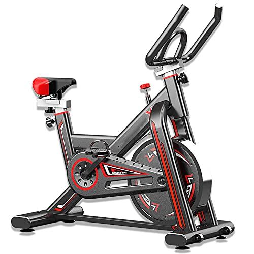 KirinSport Profi Heimtrainer Fahrrad, Ergometer Heimtrainer bis 150 kg, Fahrrad Hometrainer auf Rollen Indoor, Verstellbare Fitnessbikes mit einstellbarem Widerstand, LCD-Monitor, Herzfrequenzsensor
