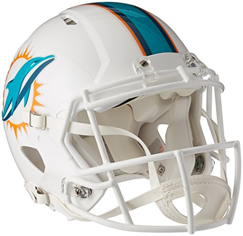 Riddell Miami Dolphins Speed Revolution Full Size Authentic NFL Proline Football Helmet – New 2013 Helmet by