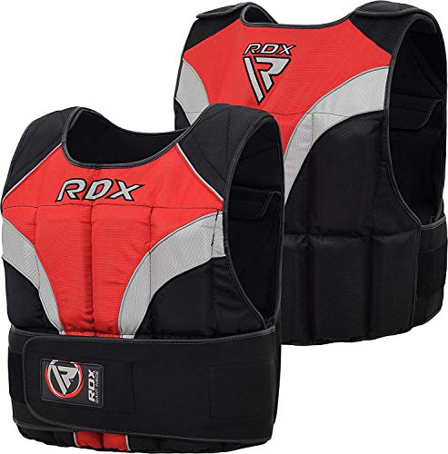 RDX Gym Gewichtsweste 20Kg Laufweste Gewicht Krafttraining Fitness Trainingsweste Joggen Weste Weighted Vest (MEHRWEG)