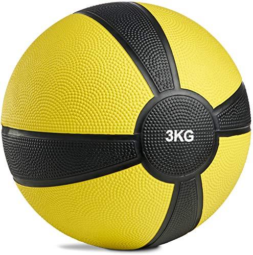 POWRX Medizinball Gewichtsball 1-10 kg | versch. Farben (3 kg)