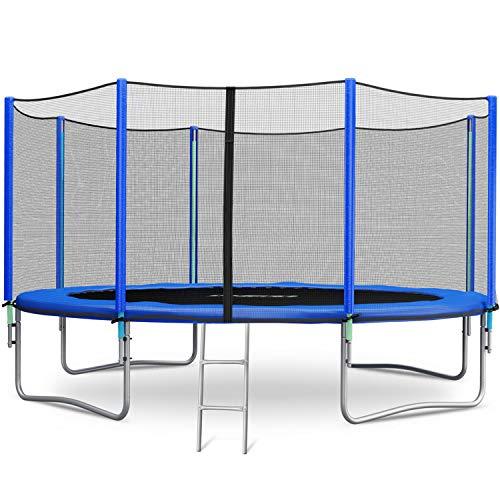 Neo-Sport Trampolin 366 cm 12 ft mit Sicherheitsnetz Außennetz und Einstiegsleiter Gartentrampolin