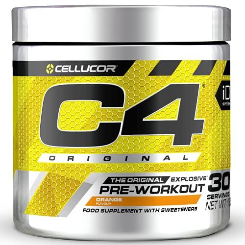 Cellucor C4 Original - Pre-Workout-Booster - Orange   Getränkepulver für Energy Drink   150 mg Koffein + Beta-Alanin + Kreatin-Monohydrat   30 Portionen