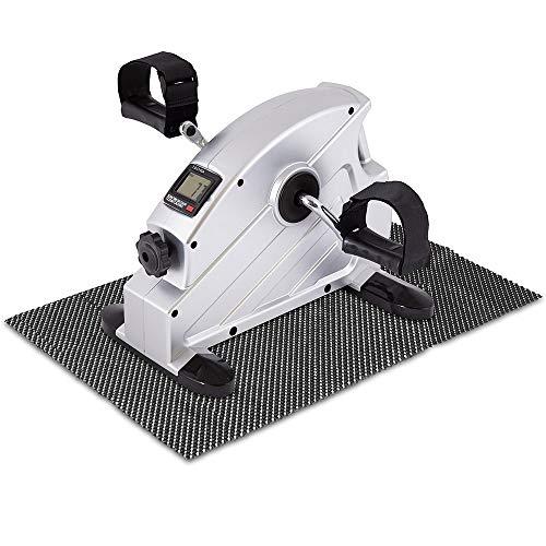 maxVitalis Mini-Bike Heimtrainer Bewegungstrainer Pedaltrainer Arm- und Beintrainer platzsparendes Trainingsgerät mit Anti-Rutschmatte und Trainingscomputer