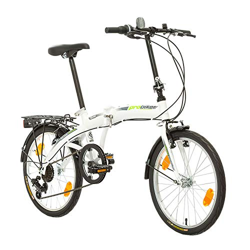 Multibrand, PROBIKE Folding 20 Klapprad Faltrad 20 Zoll, 310 mm, Folding City Bike, 6 Geschwindigkeit, Unisex, Vorne + Hinten Schutzbleche, Shimano, Komplett montiert (Grün)