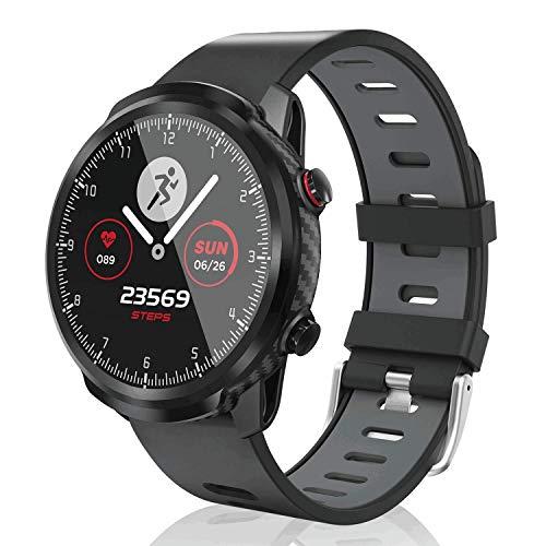 CatShin SmartWatch,Fitness-Tracker Touchscreen für Herren Damen SmartWatch wasserdichte Uhr mit Herzfrequenzmesser Schrittzähler Schlafmonitor Stoppuhr kompatibel mit Android iOS (Gray)
