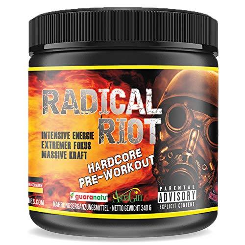 Pre Workout Booster Radical Riot V3-340 g I Fitness Booster I Trainingsbooster I Bodybuilding I Energie Drink I Fokus (Peach Ice Tea - Pfirsisch Eistee)