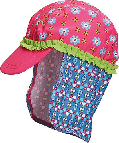 Playshoes Mädchen Mütze Badekappe, Bademütze Blumen, UV-Schutz nach Standard 801 und Oeko-Tex Standard 100, Gr. Small (Herstellergröße: 49cm), Mehrfarbig (original 900)