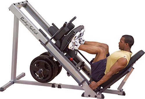BODY-SOLID 3in1 Beintrainer Beinpresse 45° - Hackenschmidt Wadentrainer Leg Press Hack Squat