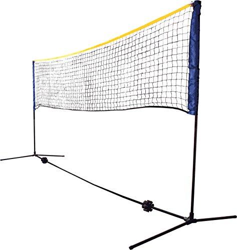 Schildkröt Netzgarnitur Kombi, freistehendes Freizeit-Netz für Badminton, Street-Tennis und andere Sportarten, stufenlos höhenverstellbar von 0,75m bis 1,55m, Breite 3m, 970994
