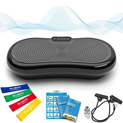 Bluefin Fitness Ultra Slim Power Vibrationsplatte   Fett verlieren und Fitnesstraining von Zuause   5 Trainingsprogramme + 180 Stufen   Bluetooth Lautsprecher   Einfache Aufbewahrung