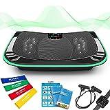 Bluefin Fitness 4D Vibrationsplatte mit 3 leisen Motoren | Magnetfeldtherapie Massage | Ergonomisches Design | 4.0 Bluetooth Lautsprecher | Vibration, Oszillation und Mikrovibration
