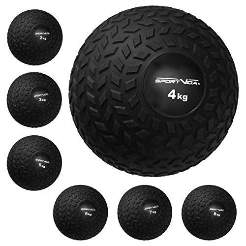 Slam Ball Gummi Medizinball. Fitnessball Gewicht 2-8 kg mit Griffiger Oberfläche. Durchmesser Medizinballs 23 cm. rutschfest Trainingsball für Sport. (2 KG)