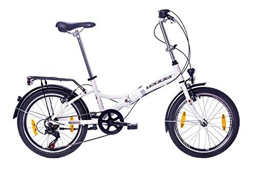 tretwerk DIREKT gute Räder Foldo 2.0 Zoll Klapprad, Falt-Fahrrad 6-Gang Kettenschaltung mit Gepäckträger
