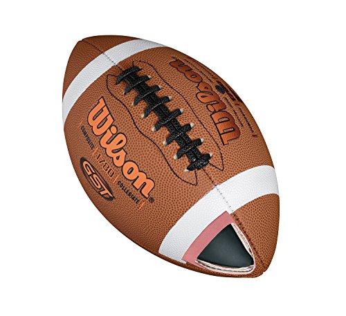 Wilson American Football, Freizeitspieler, Offizielle Größe, GST OFFICIAL COMPOSITE, Braun, WTF1780XB