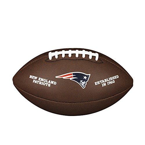 Wilson Unisex-Adult NFL LICENSED BALL NE American Football, BROWN, Uni