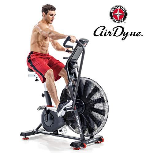 Schwinn Airdyne AD8, Profi-Fitnessbike mit grenzenlosem Luftwiderstand, LCD-Konsole mit Watt-Anzeige, Trainingsprogramme für HIIT, max. Benutzergewicht 160 kg