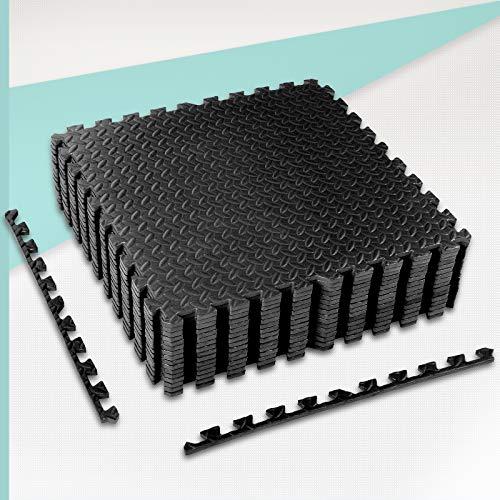 CCLIFE Bodenschutzmatte 30x30 60x60 rutschfeste Schutzmatte für Fitnessgeräte Fitness Fitnessraum Unterlegmatten Bodenmatte Trainingsmatte