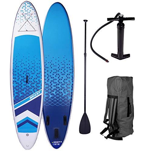 SUP Board Stand up Paddle Paddling Surfboard Dude + Lady Partner-Set 300-320cm aufblasbar Alu-Paddel Hochdruck-Pumpe Rucksack Kick-Pad 120KG Dude 320