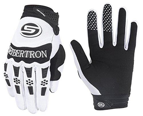 Seibertron Herren Handschuhe Dirtpaw Race Fahrrad Handschuhe sporthandschuhe für Radsport MTB Mountainbike Outdoor Sport Bike Gloves (weiß, XL)