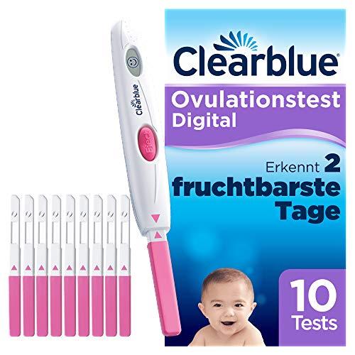 Clearblue Kinderwunsch Ovulationstest-Kit Digital, Nachweislich schneller schwanger werden, 1 digitale Testhalterung und 10 Tests