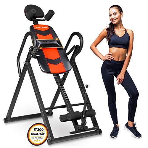 Sportstech 6in1 Inversionsbank für Fitness & Sport Zuhause | Bauchtrainer & Rückentrainer + Klimmzugstange | Heimtrainer klappbar max 150 kg | Smart Trainer für Ihr Homeworkout-Equipment | IT200/IT300