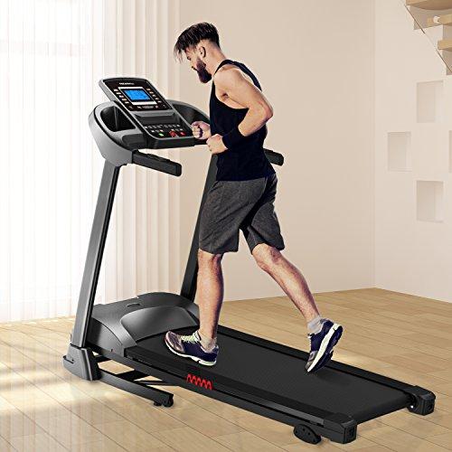 AsVIVA Laufband Cardio T16 Heimtrainer, Bluetooth, 15% Steigung, 16 km/h Geschwindigkeit, energieeffizienter 3,5 PS goGreen Elektromotor, Fitnesscomputer mit 99 Trainingsprogrammen, klappbar