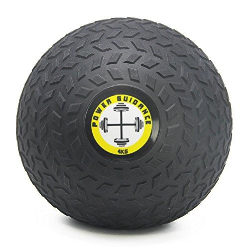POWER GUIDANCE - Slam Ball Gummi Medizinball Fitnessball Trainingsball mit griffiger, strukturierter Oberfl?Che und Ultra-robuster Gummih¨¹lle