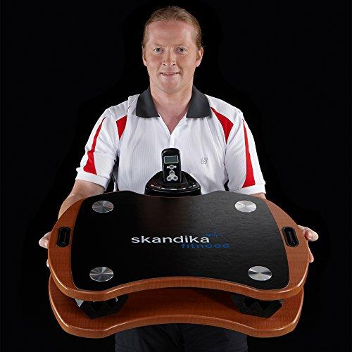 skandika Home Vibration Plate 300 mit DirectDrive Antriebssystem und Trainingsgurten (braun)