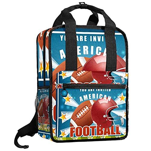 AITAI American Football Party Muster Rucksack Büchertasche für Teenager College Daypack Reisetasche