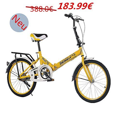 Sport & Freizeit 6 Speed klappräder 20 Zoll, Fahrrad Faltrad leicht, Cityräder für Damen & Herren, Klappräder Mountainbike, Nabenschaltung klappräder für Erwachsene
