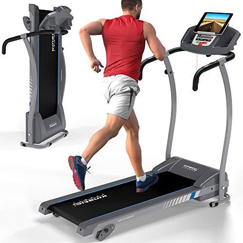 Kinetic Sports KST3100FX Laufband klappbar | elektrisch 1100 Watt leiser Elektromotor | 12 Programme | bis 125 kg | GEH- und Lauftraining | Tablethalterung | stufenlos einstellbar bis 12 km/h