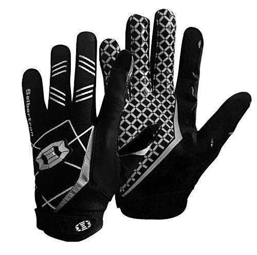 Seibertron Pro 3.0 Elite Ultra-Stick Sports Receiver/Empfänger Handschuhe American Football Gloves Jugend und Erwachsener Black XS