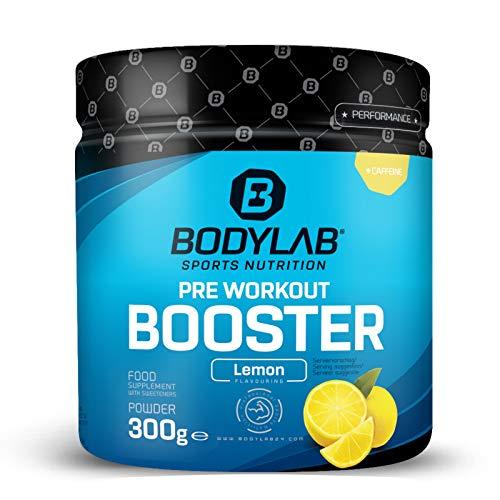 Bodylab24 Pre Workout Booster 300g | Energy Drink vor dem Training | Pulver mit Aminosäuren und Koffein | Zitrone