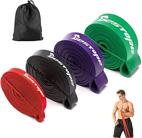 BESTOPE Fitnessbänder Resistance Bands Set Premium Gymnastikband aus Naturlatex Widerstandsbänder für Krafttraining & Fitness Klimmzug und Muskelaufbau Pilate Crossfit Yoga
