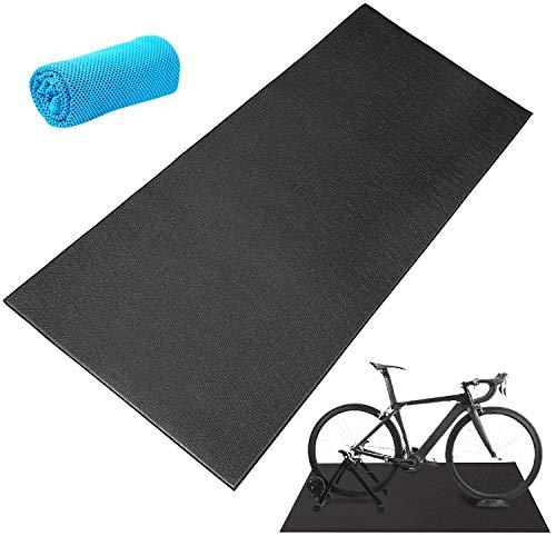 Fahrrad-Trainingsmatte, Heimtrainer, Hartholz-Bodenteppich, Trainingsmatte für Indoor-Laufband, stationäre Fahrradmatte für Peloton Spin Bikes, dicke Matten für Trainingsgeräte