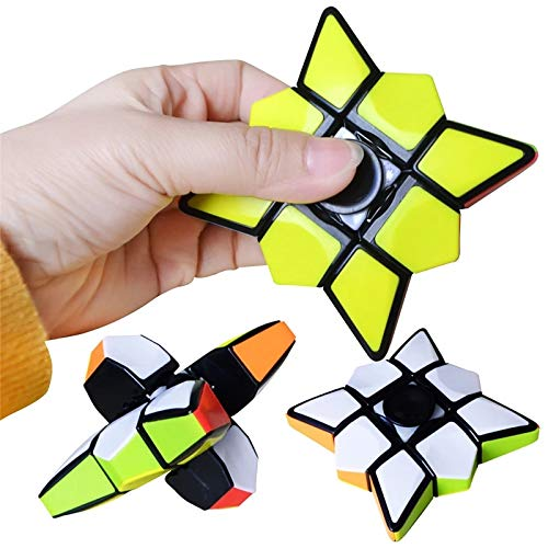 Generisch Creative Ru-bik's 1x3x3 Cube Top Toy Children's Puzzle Little Magic Bean Decompression for Adults Fingertip Rotating Top Gyroscope