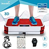 skandika Vibration Plate Home 900 Plus Profi Vibrationsplatte großer Trainingsfläche, Bluetooth, Trainingsbändern, Trainingsposter und 3D Vibration durch 2 Motoren