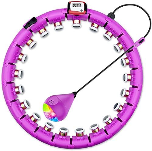 SPMOVE Smart Hula Hoop mit Zähler, Smart Fitness Reifen Taillenumfang 65-132 cm Verstellbare Fällt Nicht Smart Hoola Hoop für Gewichtsverlust und Fitness