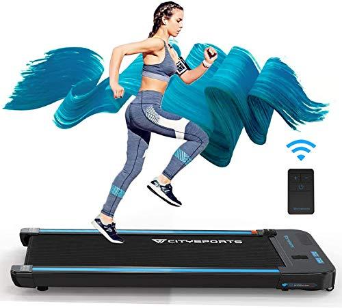 CITYSPORTS Laufband mit 440 W Elektromotor integrierte Bluetooth-Lautsprecher Einstellbares Tempo LCD-Display für zuhause und Büro