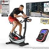 Sportstech ES400 Ergometer Heimtrainer - Smartphone APP Steuerung - 10kg Schwungmasse - Bluetooth - Pulsmesser - Hometrainer mit Magnetbremssystem - Fahrrad-Trainer, Fitness-Bike und Tablethalterung