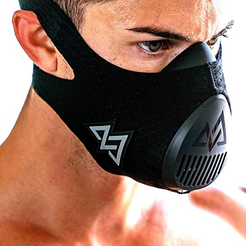 Training Mask TrainingMask Erwachsene 3.0 Trainingsmaske, Schwarz, M/70-120kg