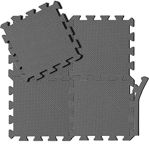 arteesol Schutzmatten Set - 18 Puzzlematten je 30x30x1cm,Premium Bodenschutzmatten Unterlegmatten Fitnessmatten für Sport Fitnessraum Fitnessgeräte Fitness Pool (Matten05-18pcs)