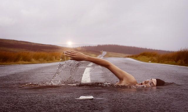 Armzug beim Kraulschwimmen